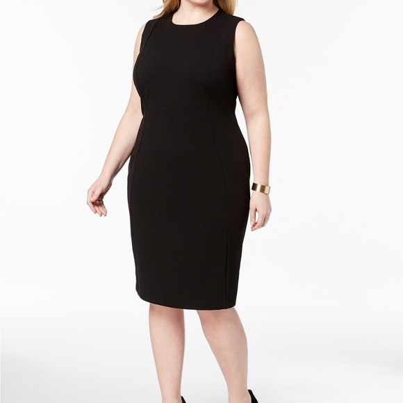 Calvin Klein Plus Size Black Sleeveless Dress